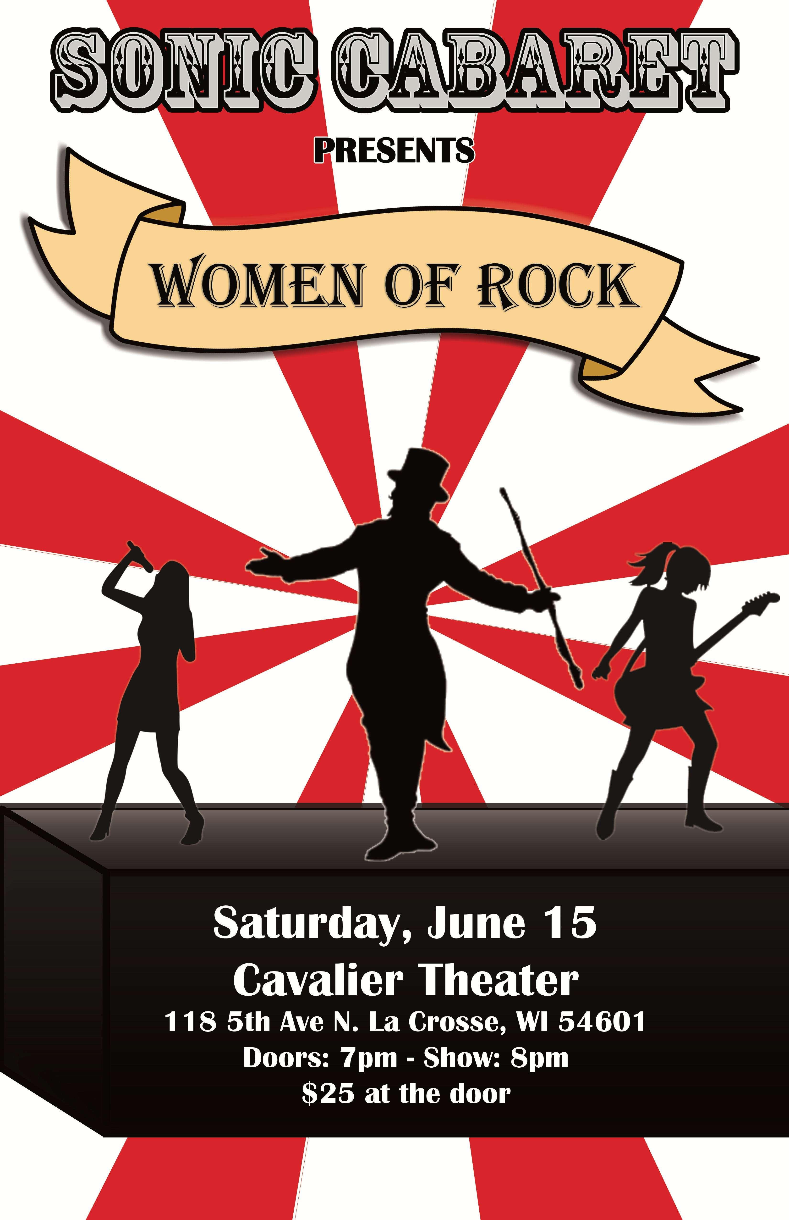 b65781324 Sonic Cabaret Presents Women of Rock at Cavalier Theater